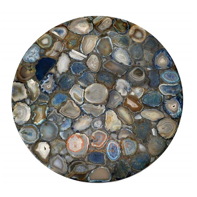 Natural Stone Agate Round Dining Table Top Online Welcome To Heritage Marble Crafts